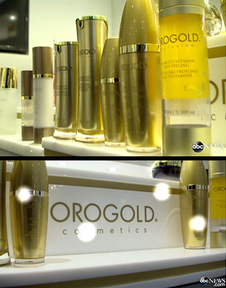 Interior of OROGOLD store with product shot