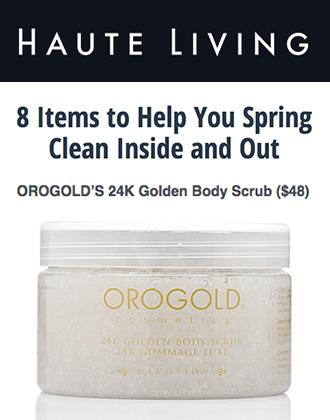 24K Golden Body Scrub featured on Haute Living.