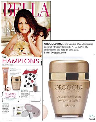 OROGOLD 24K Multi-Vitamin Day Moisturizer featured by Bella NYC Magazine.