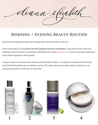 Diana Elizabeth Blog features products from the 24K Bio-Brightening Collection.