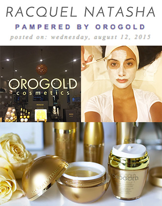 Racquel Natasha enjoys the OROGOLD VIP Facial.