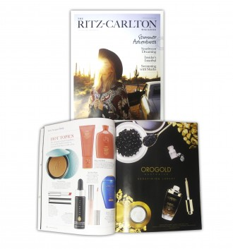 OROGOLD Cosmetics featured in The Ritz-Carlton Magazine