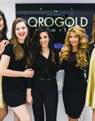Women at the OROGOLD Store during Vogue Amsterdam Event.