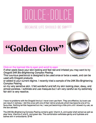 Dolce Dolce introduces the 24K Bio-Brightening Complex Peel from OROGOLD.