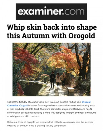 OROGOLD products featured on Examiner.com