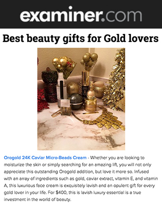 Examiner.com Features OROGOLD 24K Caviar Micro-Beads Cream