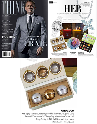 OROGOLD Daily Essentials Kit featured in THINK Magazine.