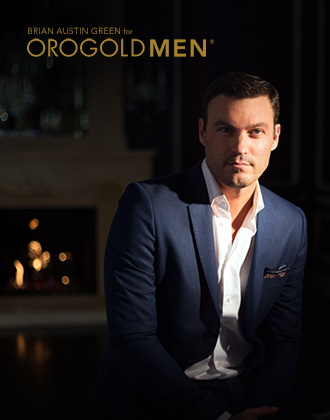 Brian Austin Green posing for OROGOLD