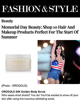 OROGOLD 24K Golden Body Scrub on Fashion&Style