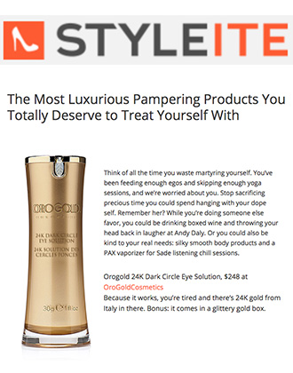 Styleite reviews 24K Dark Circle Eye Solution from OROGOLD.