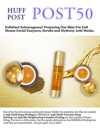 Huffington Post presents OROGOLD Deep Peeling products.