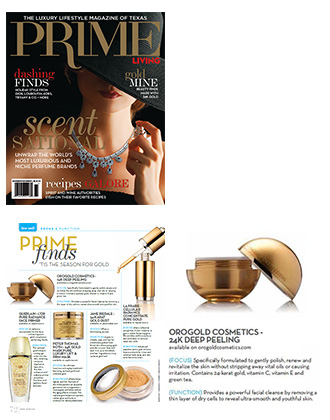 OROGOLD 24K Deep Peeling on PRIME Living Magazine.