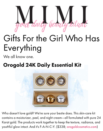 MIMIChatter features our OROGOLD 24K Daily Essentials Kit