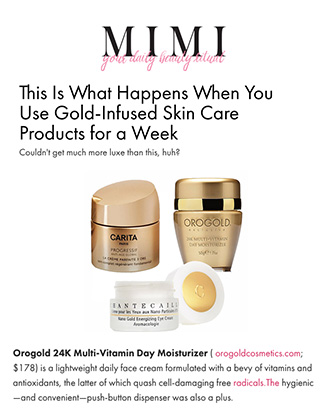 OROGOLD Cosmetics featured on MIMIChatter.